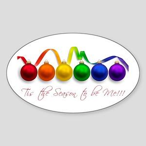 christmas pride Sticker (Oval)