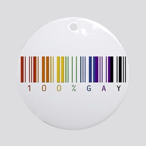 100% gay Ornament (Round)