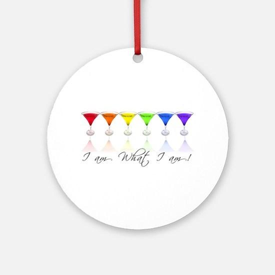 rainbow martinis Ornament (Round)