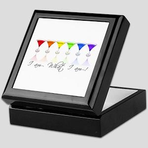 rainbow martinis Keepsake Box