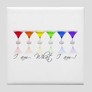 rainbow martinis Tile Coaster