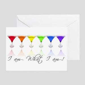 rainbow martinis Greeting Card