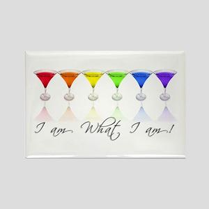 rainbow martinis Rectangle Magnet