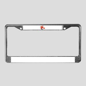 Red BiPlane License Plate Frame