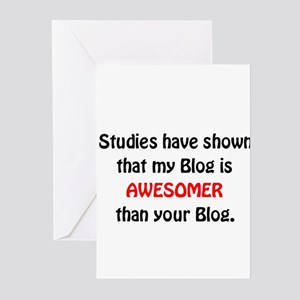 Studies show my Blog is Aweso Greeting Cards (Pack