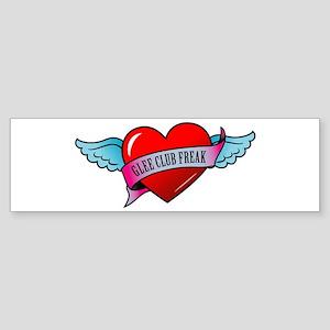 Banner, Heart & Wings - Glee Sticker (Bumper)