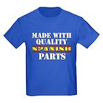 Quality Spanish Parts Kids Dark T-Shirt