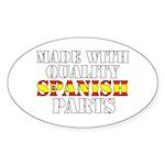 Quality Spanish Parts Sticker (Oval)