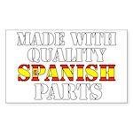 Quality Spanish Parts Sticker (Rectangle)