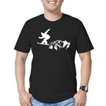 Snowboarding Men's Fitted T-Shirt (dark)