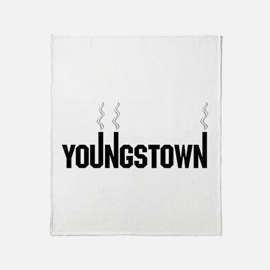 Youngstown Smokestack Throw Blanket