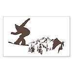 Snowboarding Sticker (Rectangle 10 pk)