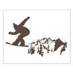 Snowboarding Small Poster