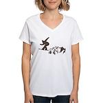 Snowboarding Women's V-Neck T-Shirt