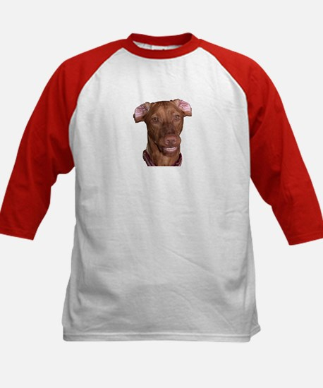 Silly Vizsla Smile Kids Baseball Jersey