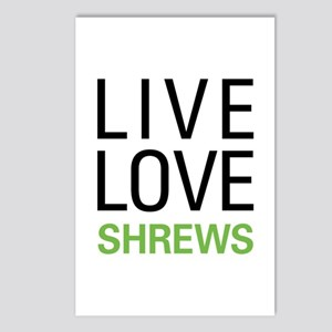 Live Love Shrews Postcards (Package of 8)