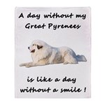 Without my Great Pyrenees Throw Blanket
