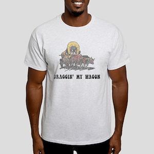 Draggin' My Wagon Ash Grey T-Shirt
