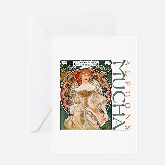 Mucha Greeting Card