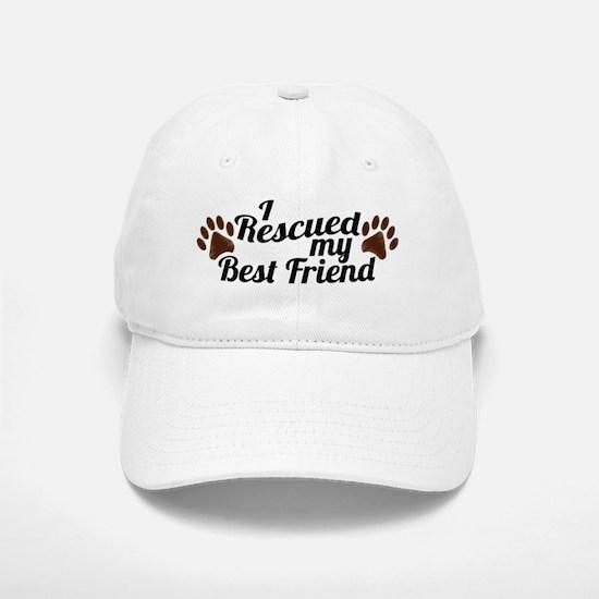 Rescued Dog Best Friend Baseball Baseball Cap