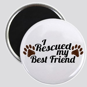 Rescued Dog Best Friend Magnet