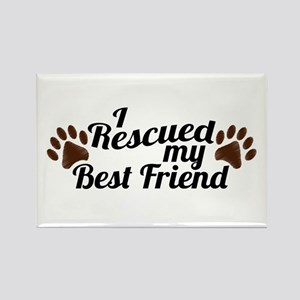 Rescued Dog Best Friend Rectangle Magnet