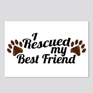 Rescued Dog Best Friend Postcards (Package of 8)