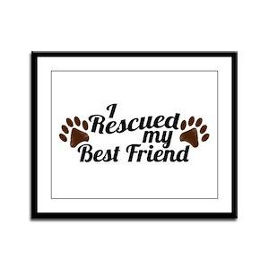 Rescued Dog Best Friend Framed Panel Print