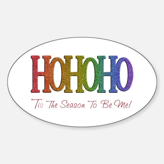 Unique Gay christmas Sticker (Oval)