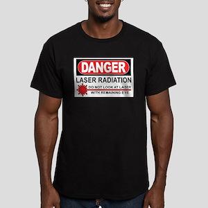 Laser Men's Fitted T-Shirt (dark)