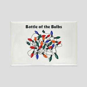 """Battle of the Bulbs"" Rectangle Magnet"