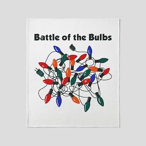 """""""Battle of the Bulbs"""" Throw Blanket"""