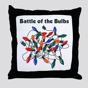 """Battle of the Bulbs"" Throw Pillow"