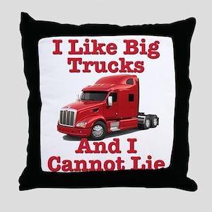 I Like Big Trucks Peterbilt Throw Pillow
