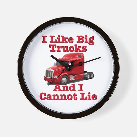 I Like Big Trucks Peterbilt Wall Clock