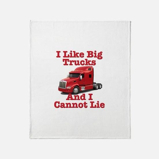 I Like Big Trucks Peterbilt Throw Blanket