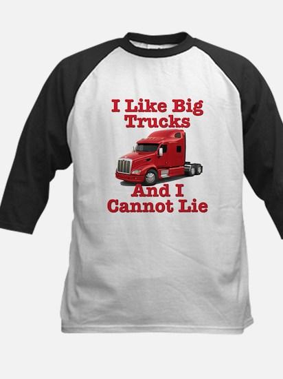 I Like Big Trucks Peterbilt Kids Baseball Jersey