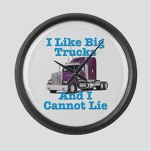 I Like Big Trucks Western Star Large Wall Clock