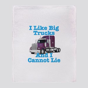I Like Big Trucks Western Star Throw Blanket