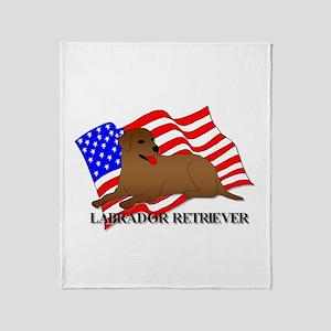 Labrador Retriever USA Throw Blanket