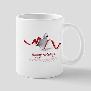 african grey parrot holiday Mug