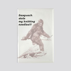 Sasquach Rectangle Magnet