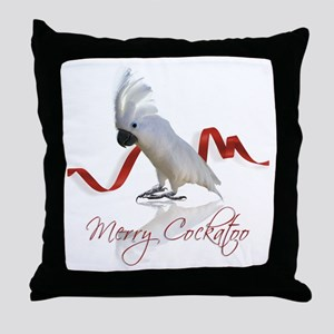 merry cockatoo Throw Pillow