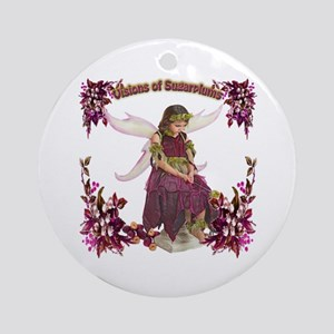 Visions of Sugarplums Round Ornament