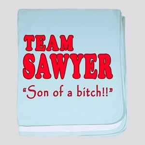 TEAM SAWYER with SOB baby blanket