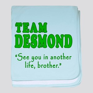 TEAM DESMOND with Quote baby blanket
