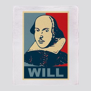 Pop Art William Shakespeare Throw Blanket