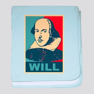 Pop Art William Shakespeare baby blanket