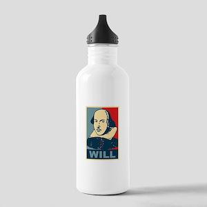 Pop Art William Shakespeare Stainless Water Bottle