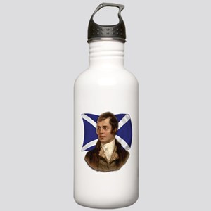 Robert Burns with Scottish Flag Stainless Water Bo